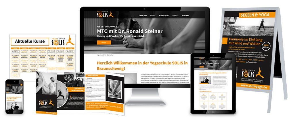 Mobile Webseiten. Flyer. Plakate.